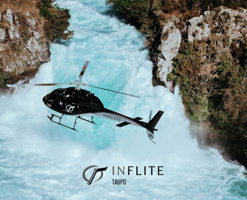 Huka Falls Taupo by Helicopter
