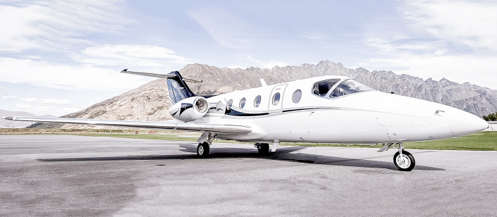 Image of the INFLITE Charters Private Jet in Queenstown, New Zealand